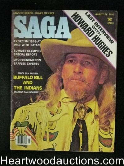 Saga Aug 1976 Paul Newman, Howard Hughes, Alstair Cooke