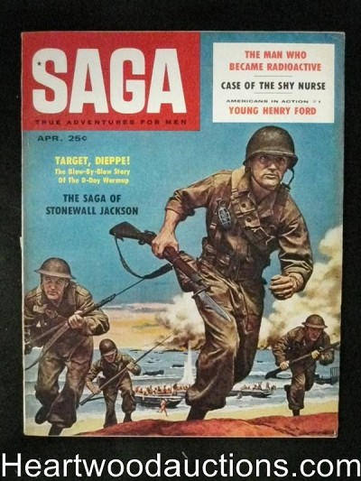 Saga Apr 1958 Henry Ford, Stonewall Jackson, Robert Stanley Art