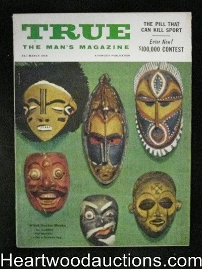 True. Mar 1955 Kunstler, Baseball, Witch Doctor Masks