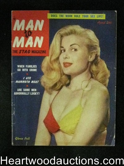Man to Man Apr 1953 Gloria Pal cover, Marciano