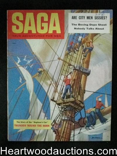 Saga Jan 1955 Drugs in Boxing, Luke Short Gunfighter, Kunstler