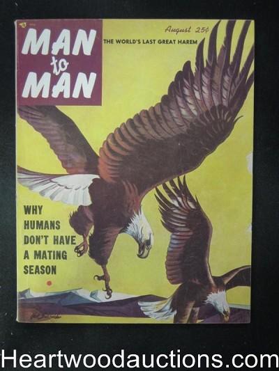 Man to Man Aug 1953 Ed McBain / Boxing