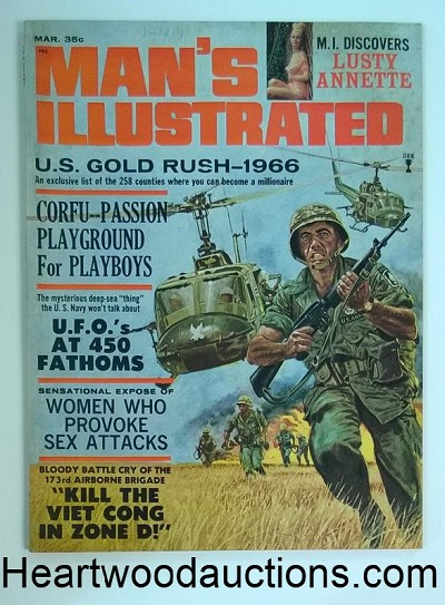 Man's Illustrated Mar 1966 173rd Airborne Brigade, Annette Johnson, UFO's
