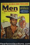 Men Oct 1957 Mort Kunstler Cvr, Samson Pollen, Elsa Martinelli, Yellowstone Kelly - High Grade- NAPA