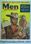 Men Oct 1957 Mort Kunstler Cvr, Samson Pollen, Elsa Martinelli, Yellowstone Kelly