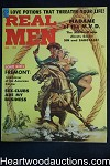 Real Men Jan 1959 Kidnapped Cowgirl Cvr, Alaskan Wolves, Wrestling, WWII Story - Ultra High Grade- NAPA
