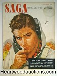 Saga Nov 1950 Richard Cardiff Cvr.; Earl MacPherson Pin-Up Calendar Girl Article