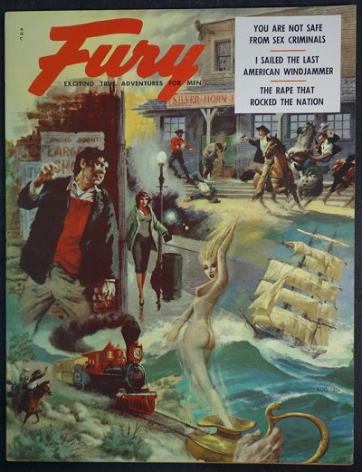 """Fury"" August 1956 Tom Beecham Cvr, Jayne Mansfield, Civil War - Ultra High Grade- NAPA"