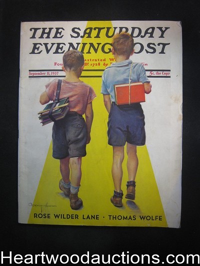 Saturday Evening Post Sep 11, 1937 H. Bedford-Jones, PG Wodehouse