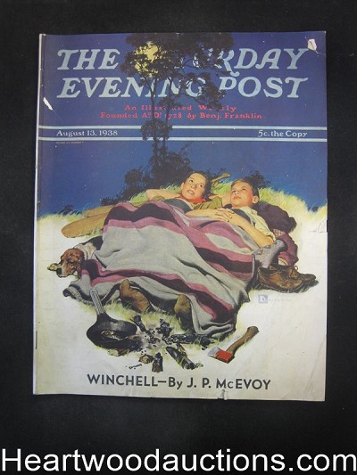 Saturday Evening Post Aug 13, 1938 Amos Sewell, Wodehouse, Marquand