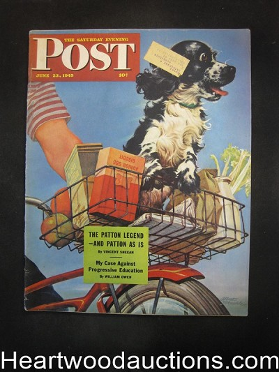 Saturday Evening Post Jun 23, 1945 Luke Short, Robert Fawcett, Coca-Cola BC, Ludekens,