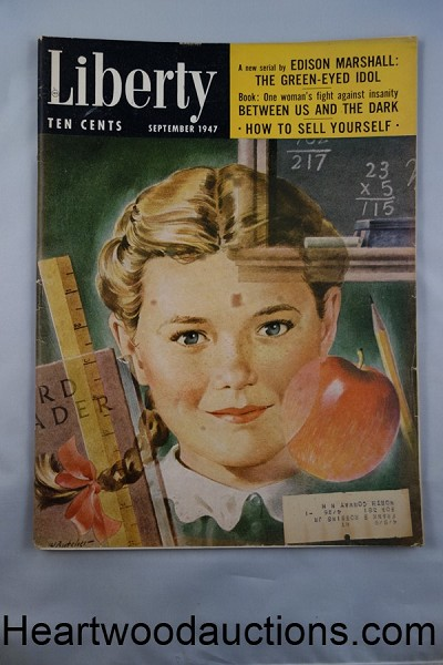 "Liberty Sep 1947 Lenore McCall ""Between Us and the Dark"" Book Condensation"
