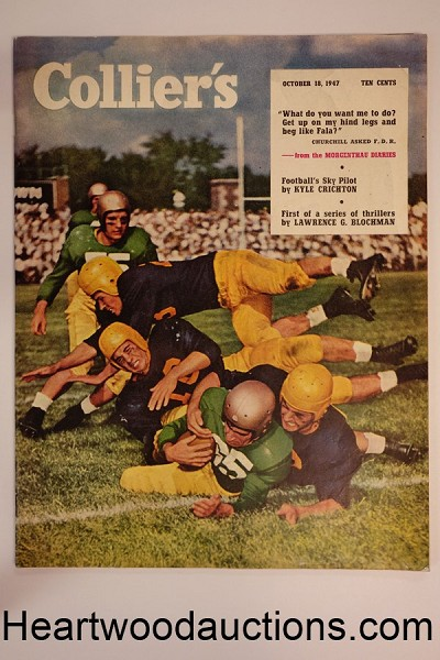 Collier's Oct 18, 1947 Morgenthau Diaries; Football