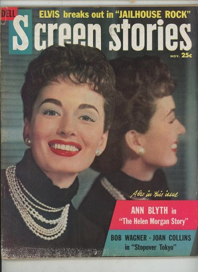 Screen Stories Nov 1957 Ann Blyth Cover