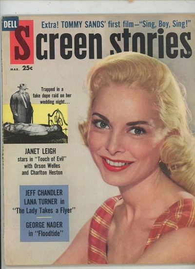 Screen Stories Mar 1958 Janet Leigh Cover