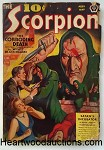 Scorpion Apr-May 1939 Dr. Skull; Hooded Villains with Knives on Cover by Howitt