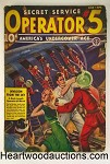Operator #5 Mar-Apr 1939 Wild GGA Assault Cvr w/ Soldiers in Glass Space Helmets