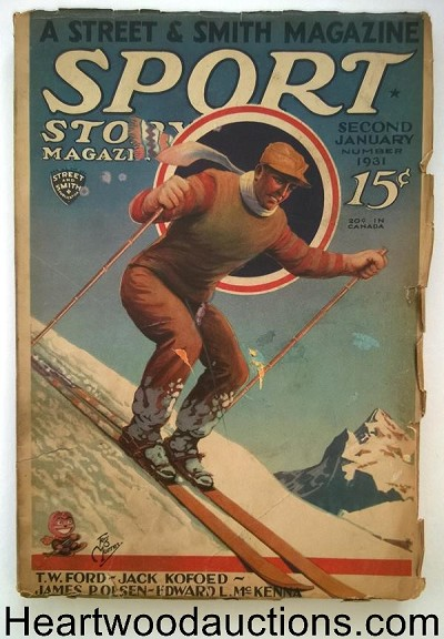 Sport Story Magazine Jan 2, 1931 Feg Murray Cvr