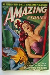 Amazing Stories Oct 1952 Red Head GGA Cover