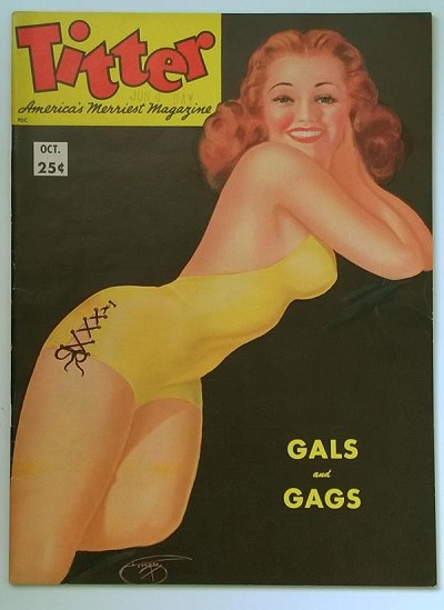 Titter Oct 1953 Devorss Pin-Up Cover - High Grade
