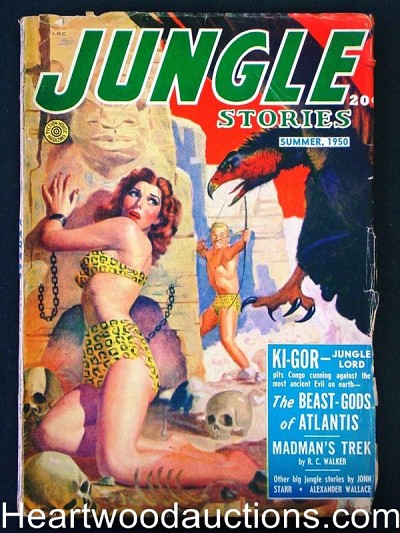 """Jungle Stories"" Summer 1950  Bondage Skull"