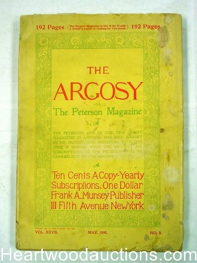 """Argosy"" May 1898 Early Issue"