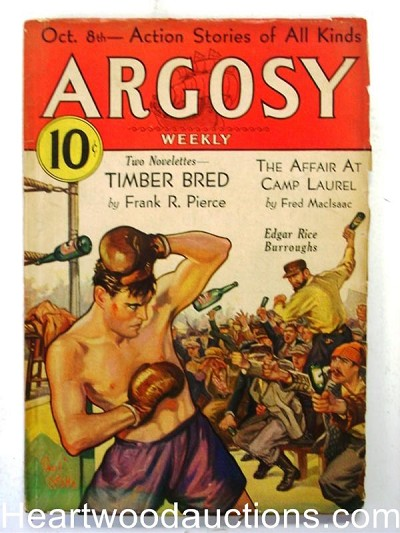 """Argosy"" October 8, 1932 Burroughs  Boxing Cover"