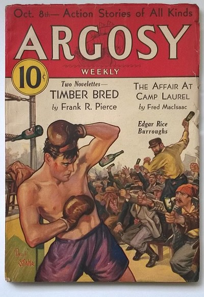 Argosy Oct 08, 1932 Burroughs - Pirates of Venus (4/6) - High Grade
