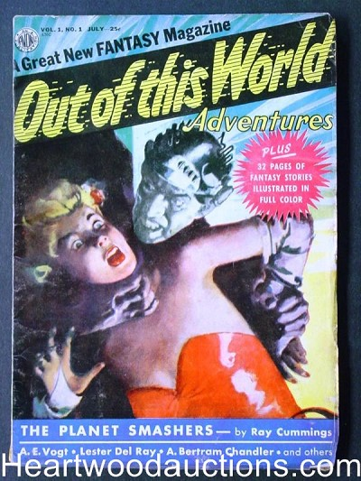 """Out of this World"" July 1950  #1 Color Kubert Comics"