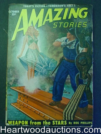 """Amazing Stories"" October 1950 Fredric Brown"