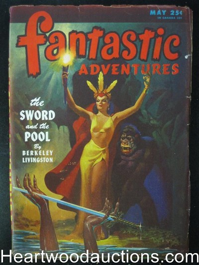 """Fantastic Adventures"" May 1946 GGA with Gorilla Paul BC J Allen St. John"