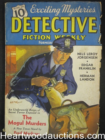 """Detective Fiction Weekly"" November 28 1936 The Mogul Murders"