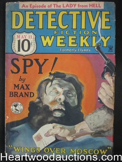 """Detective Fiction Weekly"" May 11 1935 Max Brand Cover"