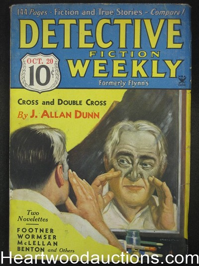 """Detective Fiction Weekly"" October 20 1934 Footner,Dunn"