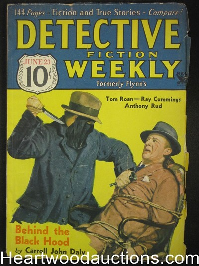 """Detective Fiction Weekly"" June 23 1934 C. J Daly Blackhood Cover"