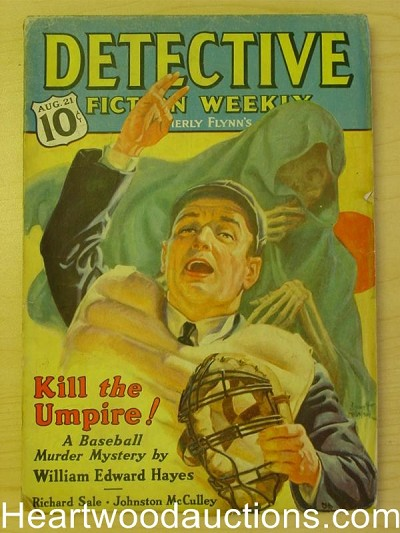 """Detective Fiction Weekly"" Aug 21 1937  Baseball CVR"