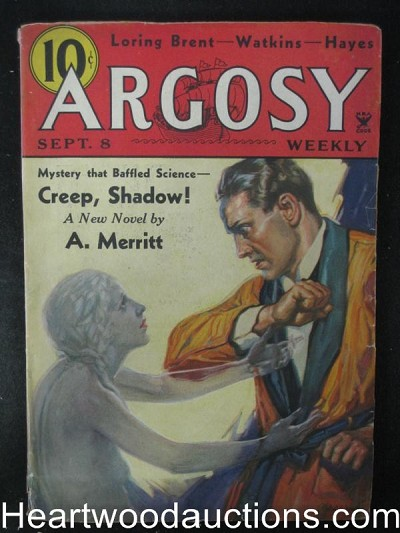 """Argosy"" September 8 1934,A.Merritt,Creep,Shadow! Cvr"