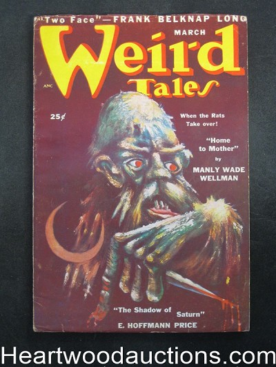 Weird Tales Mar 1950 Day Keene, E.H. Price,  - High Grade