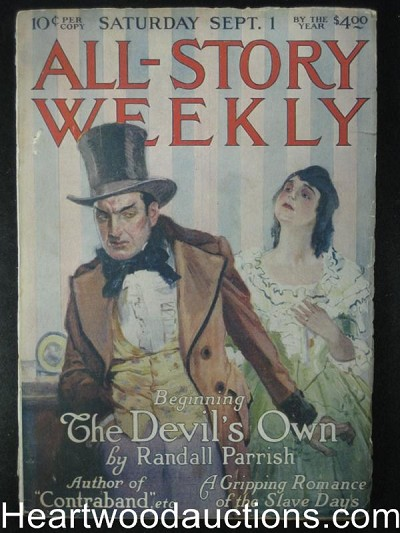 """All Story Weekly"" September 1st 1917"