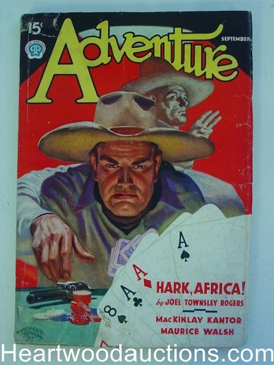 """Adventure"" September 1937  Off White Pages"