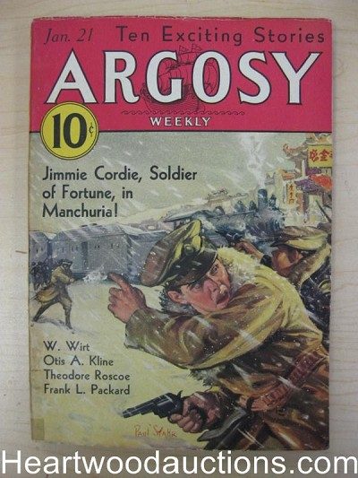 """Argosy"" January 21 1933 Jimmie Cordie Cover"