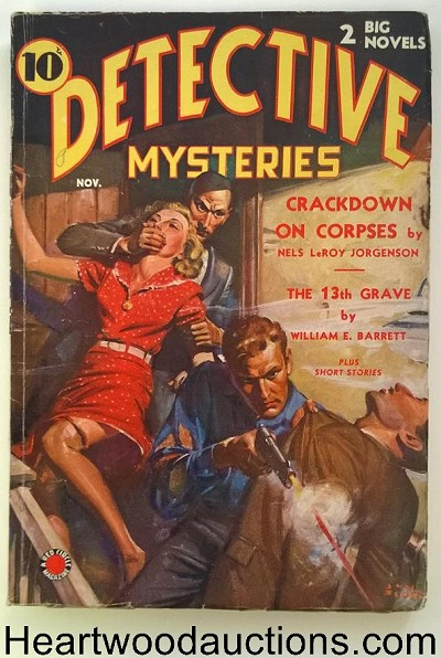 """Detective Mysteries"" November 1938 Vol 1 # 1 Red Circle"