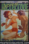 Spicy Detective Sep 1934  Brute  Attacks GGA on beach Cvr