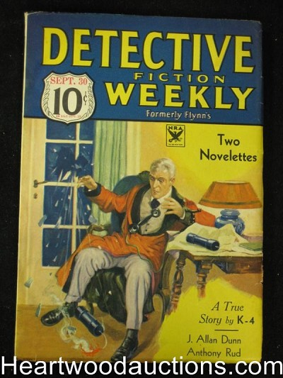 Detective Fiction Weekly Sep 1933 Firebombing cover