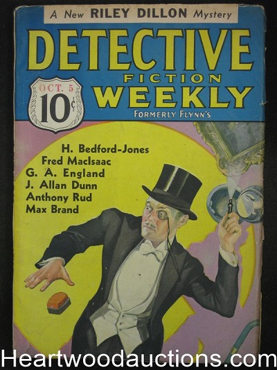 Detective Fiction Weekly Oct 5 1935 G.A. England HBJ