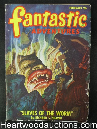 Fantastic Adventures Feb  1948    Gibson Jones Cover