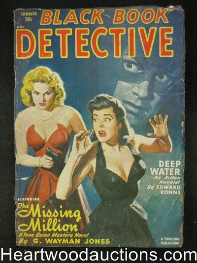 Black Book Detective Summer 1949  Belarski GGA Cleavage Cvr