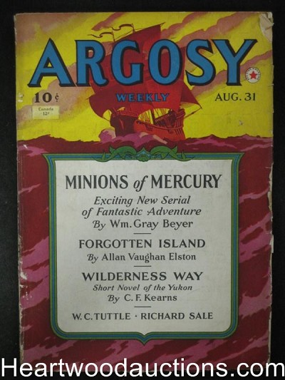 "Argosy Aug 31 1940,Beyer""Minions of Mercury"""