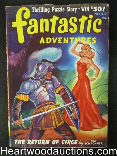 Fantastic Adventures Aug  1941   Female Whipping cover- High Grade