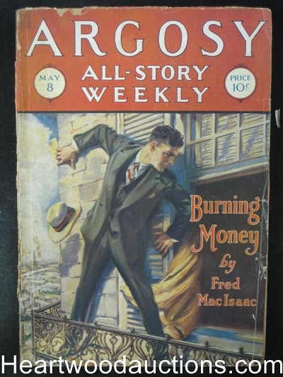 Argosy May 8 1926 Burning MoneyCover